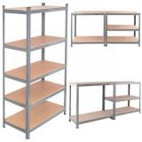 Foshan custom heavy duty 5 layers goods shelf metal steel storage shelf