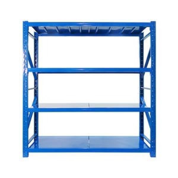 5 layer angle steel light middle duty metal warehouse storage rack and shelf #3 image