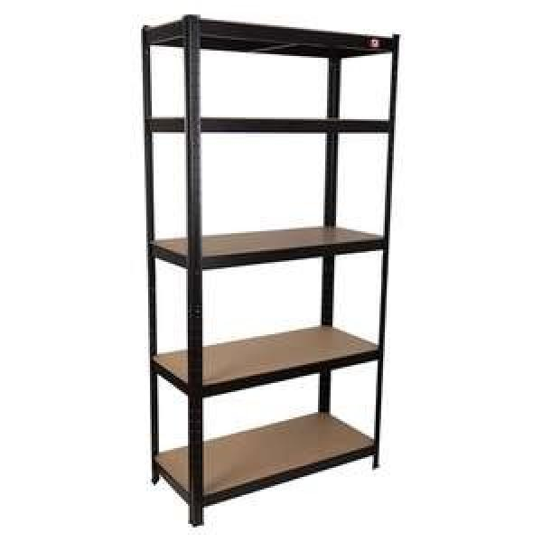 5 layer angle steel light middle duty metal warehouse storage rack and shelf #2 image