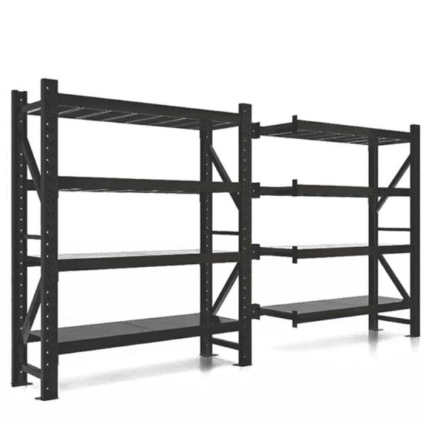 Q235 Durable Steel China Commercial Adjustable Metal Storage Rack Metal Rack With Wheels #3 image